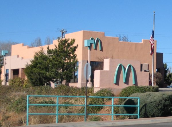 turquoise arches at mcdonalds in arizona