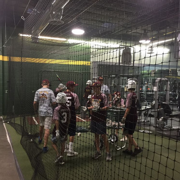 penington painting batting cage practice